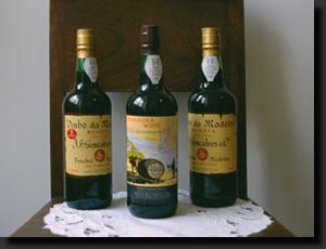 Různé druhy madeirských vín