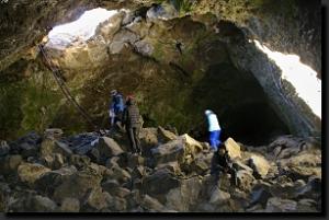 V nitru Ledové jeskyně