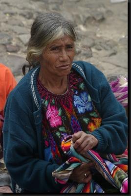 Indiánská žena na trzích