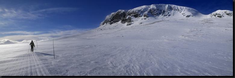 Na běžkách pod národním parkem Hallingskarvet
