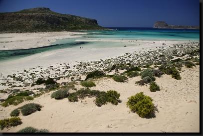 Krásné pláže pod krétskými horami