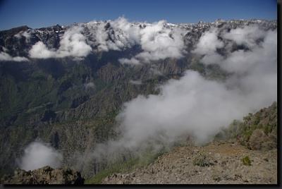 Horský hřeben nad Calderou de Taburiente