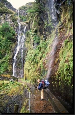 Pod vodopády v oblasti Rabaçalu