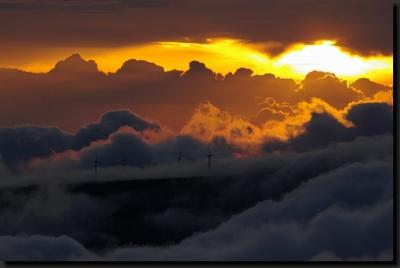 Západ slunce nad madeirskými horami