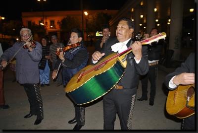 Pouliční hudebníci mariachi