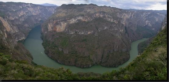 Kaňon Sumidero v jižním Mexiku
