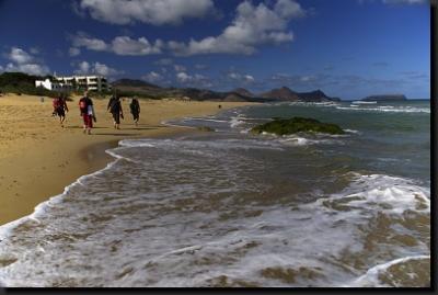 Na zlaté pláži Praia Dourada na ostrově Porto Santo