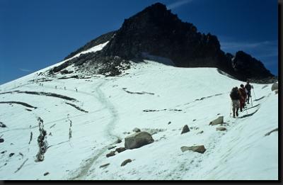 Výstup po ledovci na Pico de Aneto