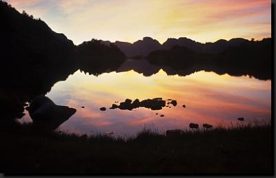 Večerní romantika u jednoho z jezer