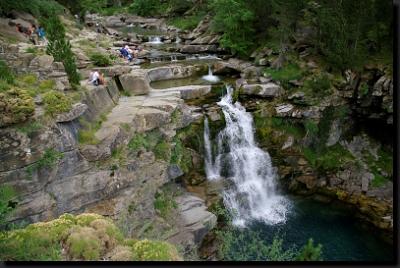 Vodopády na potoce Río Arazas