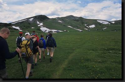 Se skupinou na zájezdu v rakouských Alpách