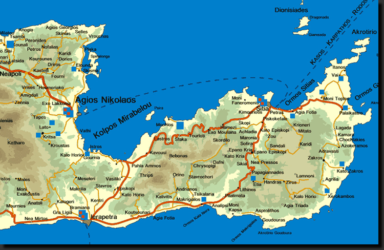 Mapa provincie Lassíthi