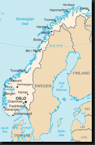 Mapka Norska