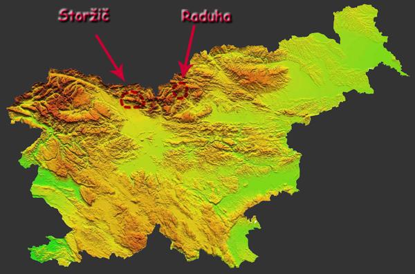 Mapka Slovinska