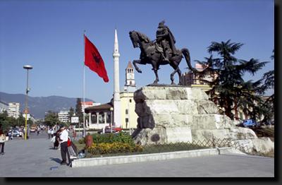 Hlavní město Albánie - Tirana