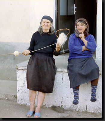Albánské babičky z vesnice Lin