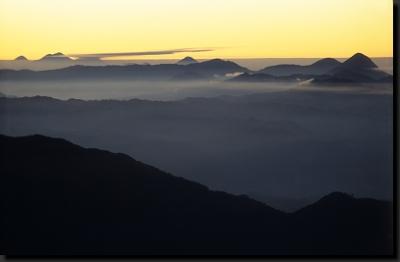 Východ slunce z nejvyšší hory - Tajumulca