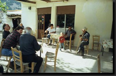 Taverna ve vesnici Horní Omalos