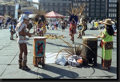 Potomci Aztéků v Mexico City
