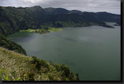 Sopečné jezero Lagoa Azul