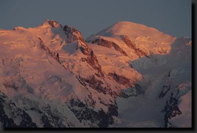 Svítání nad Mont Blancem